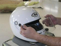 How to repaint a motorcycle helmet?